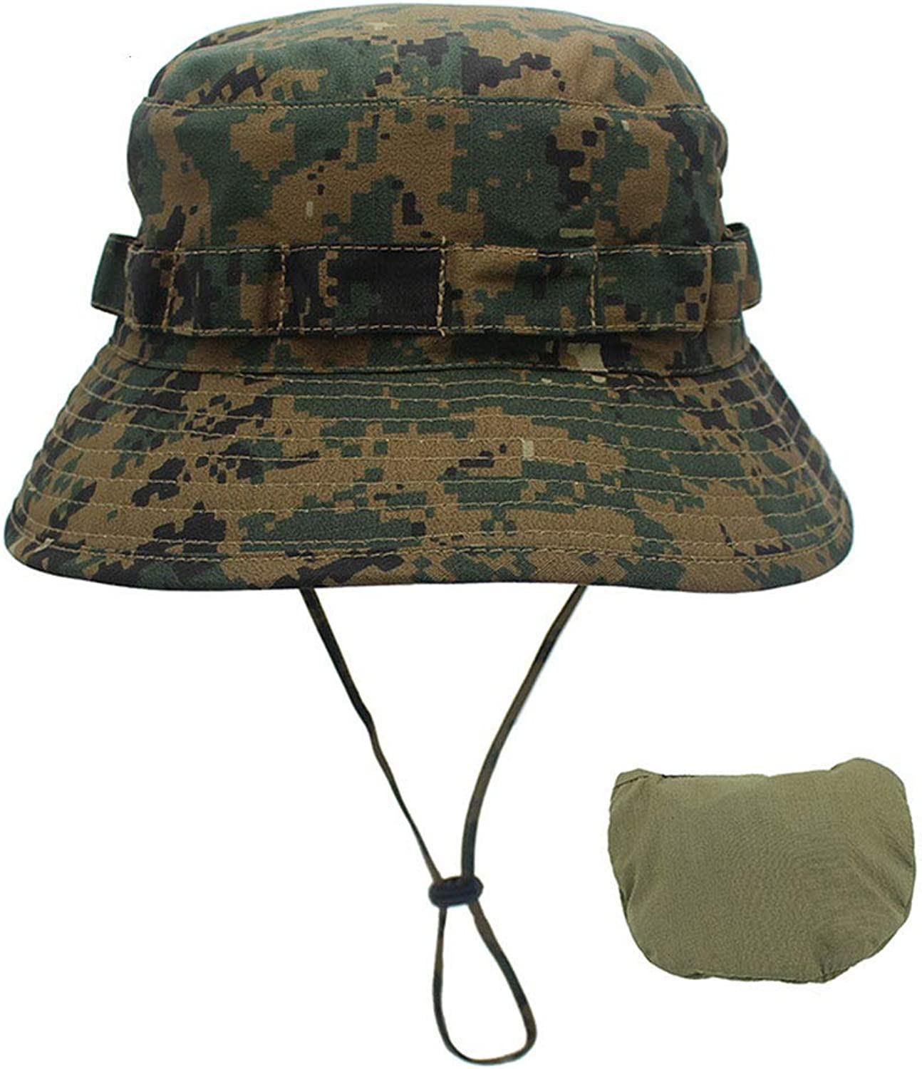 Digital Camouflage Small Basin Hat Outdoor Camping Men's Fisherman Hat Wholesale Sunscreen Bionic Jungle Cap,I