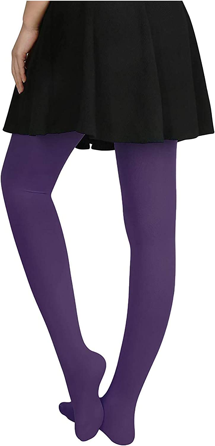 Hue Women's Opaque Tights Smoky Purple One Pair Size Small #1