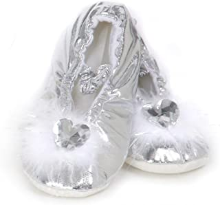[グレートプリテンダーズ]Great Pretenders Creative Education's Silver Princess Slippers Size Large C18467 [並行輸入品]