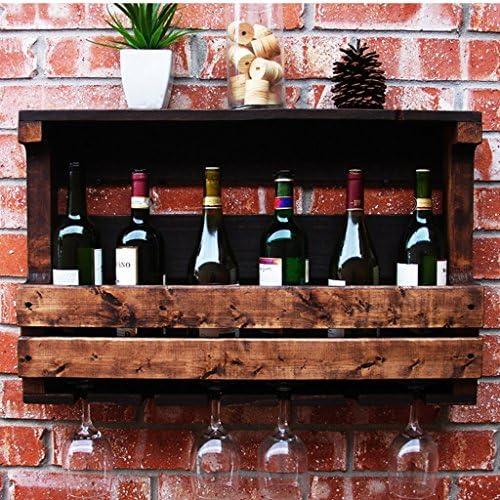 Regale & Ablagen Weißegal Wandbehang Massivholz H ender Weißühler Wandhochglashalter Größe Farbe Kinderzimmer (Größe   70  42  13 cm)