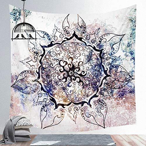 Tapiz de flores para colgar en la pared, impresión HD, exquisita, tela de fondo para sala de estar, dormitorio, decoración del hogar, A6, 200 x 150 cm
