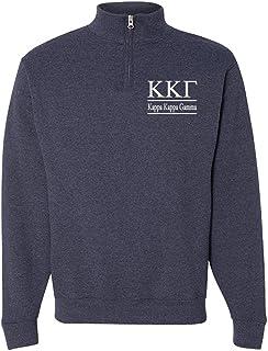Kappa Kappa Gamma Quarter Zip Pullover Sweatshirt
