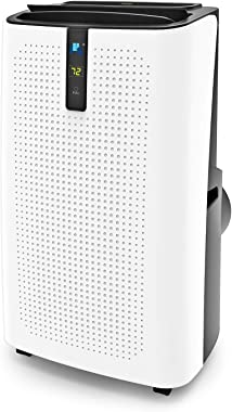 JHS 12,000 BTU Portable Air Conditioner, 3-in-1 Floor AC Unit with 3 Fan Speeds, Remote Control and Digital LED Display, Cove