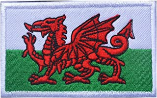 ShowPlus Welsh WLS Flag Military Embroidered Tactical Patch Morale Shoulder Applique
