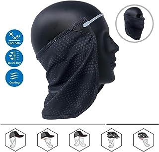 CoolNES Patentado   Braga Cubre Cara y Cuello   Pañuelo 2 en 1 Multifuncional   Gorras   Sombreros   Cascos   Protección Solar UPF 50+   5 Colores   Version 2019