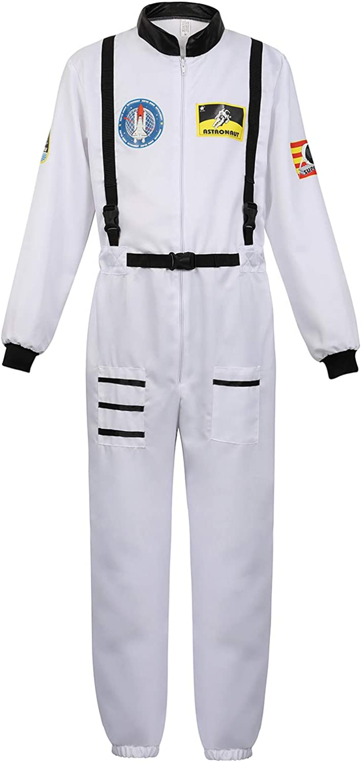 Men's Adult Cheap Astronaut Spaceman Costume Air Washington Mall Pilot Coverall Force