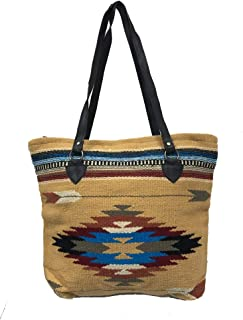 Southwest Ladies Serape Cabo Purse Tote Aztec Ultra Soft Colorful Brown Design A
