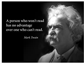 Mark Twain portrait poster LARGE with famous quote