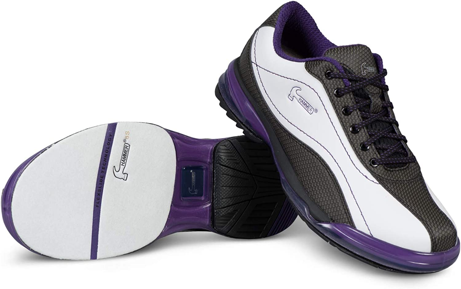 KR Strikeforce Hammer Force Women's Bowling Shoes Right Hand White Black Purple