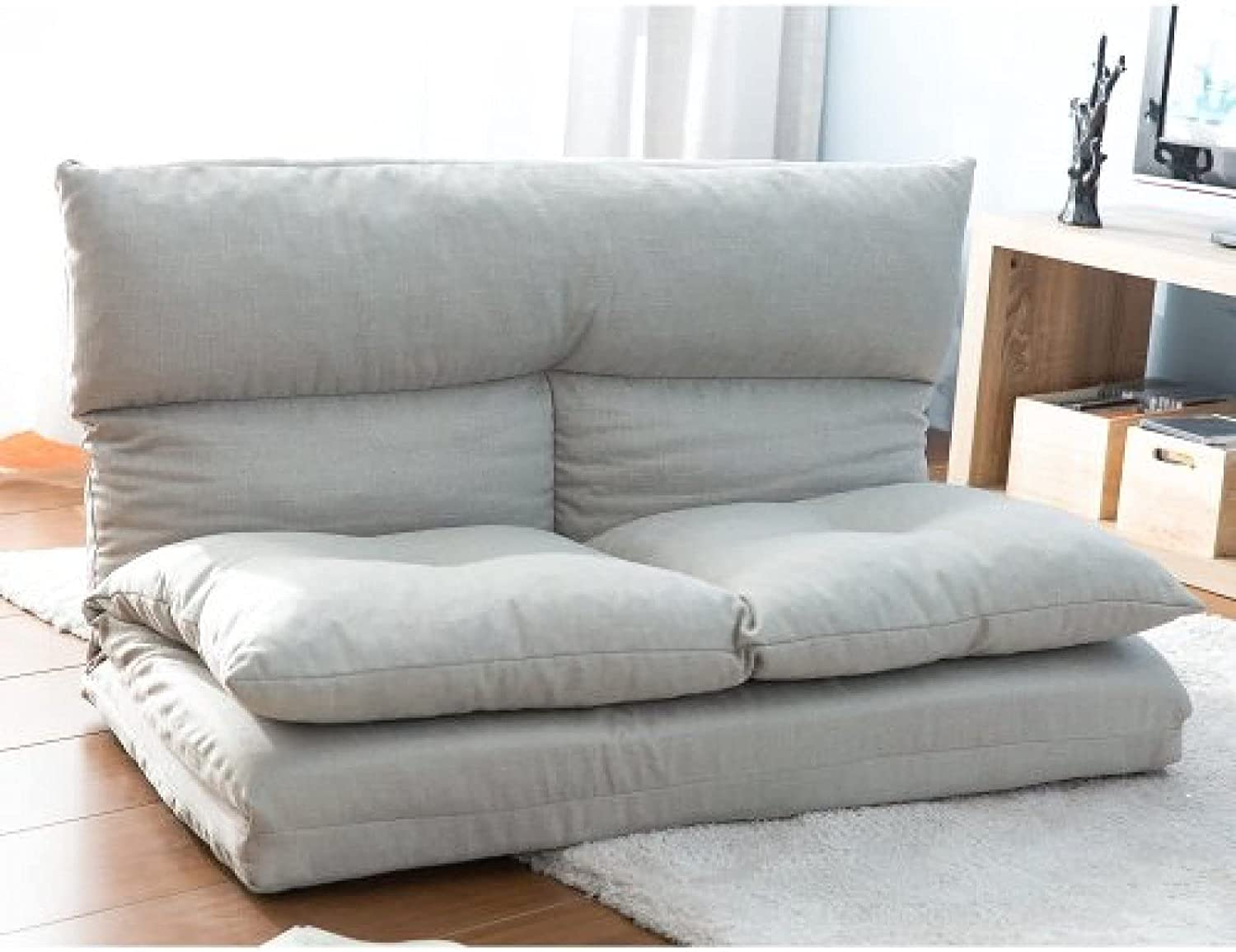 Fabric Folding New sales Chaise Lounge Floor Gray Sofa Year-end annual account