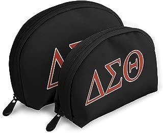 SHOEWPQIA Delta Sigma Theta Travel Shell Makeup Bag Toiletry Bag For Women Cosmetic Pouch