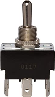 "Morris Products Momentary Contact Toggle Switch – Heavy Duty, DPDT (On)-Off-(On) 6 Quick Connect Spade Terminals – 100,000 Mechanical Life Cycles – CURus Listed – 1.30"" x .76"" x .86"""