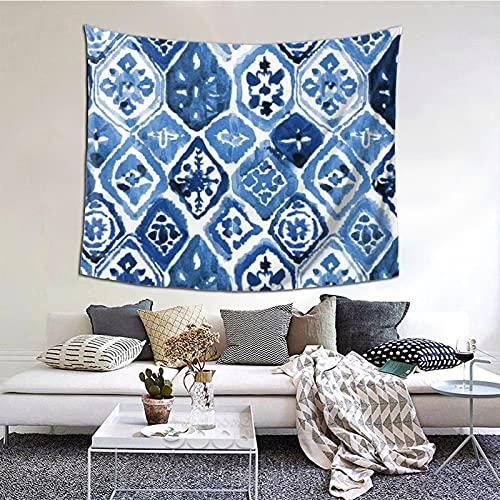 Tapiz para colgar en la pared, diseño de azulejos árabes, multiuso, horizontales, para sala de estar, dormitorio, hogar, fiesta, decoración, 152 x 130 cm