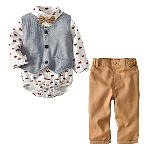 Mysty Baby Checked Pants for Infant Boys and Girls
