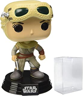 Funko Star Wars: The Force Awakens - Rey with Goggles Pop! Vinyl Figure (Includes Compatible Pop Box Protector Case)