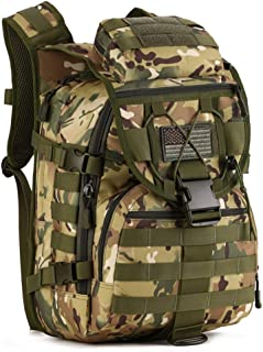 IDOGEAR 40L Tactical Backpack Molle Assault Pack 900D Nylon Water Resistant Shoulder Bag Travelling Airsoft Backpacks