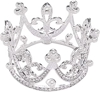Sunshinesmile Princess Bridal Wedding Party Baby Rhinestone Full Circle Round Mini Crown Tiara