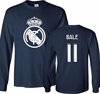 real madrid blue shirt long sleeve