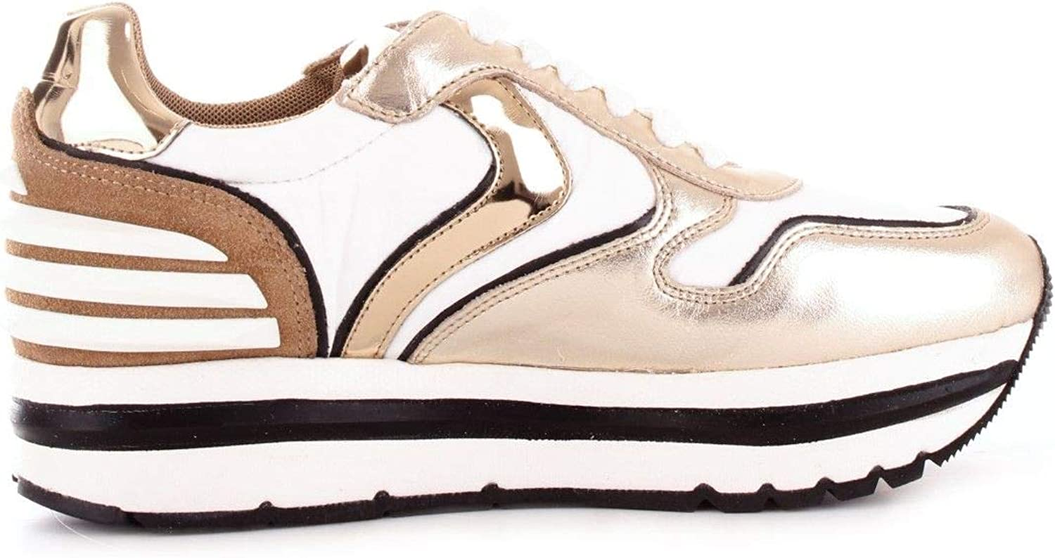 VOILE whiteHE Women's 201350201PLATINO gold Leather Sneakers