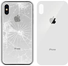 Apple iPhone X Replacement Back Glass Cover Back Battery Door w/Pre-Installed Adhesive,Best Version Apple iPhone X All Models OEM Replacement (White)