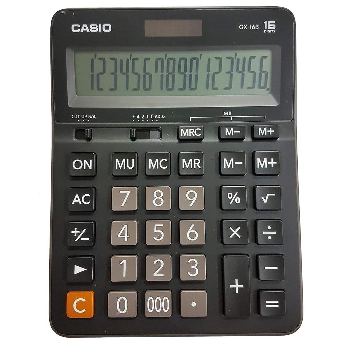 動く推進、動かすチョークCasio GX-16B デスクトップ型16桁電卓 GX16B [並行輸入品]