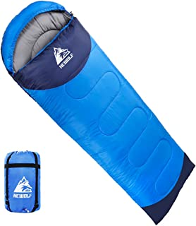 HEWOLF寝袋 封筒型 190T防水シュラフ 軽量 保温 連結可能アウトドア 丸洗い可能 コンパクト オールシーズン スリーピングバッグ キャンプ 登山 車中泊 防災用 収納袋付き 1.3KG 1.6KG 1.8KG 快適温度15度-5度