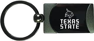 LXG, Inc. Texas State University -Two-Toned Gun Metal Key Tag-Gunmetal
