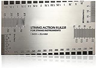 Bluelans® Double Sided Multi Function String Action Guitar Set Up Gauge Ruler User Guide Luthier Measuring Tool for Electric, Acoustic Bass Guitars