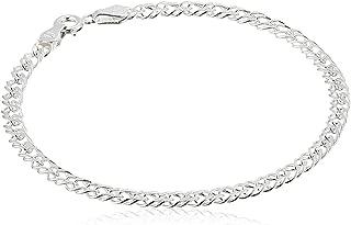 Sterling Silver Interlocking Geometric Link Bracelet