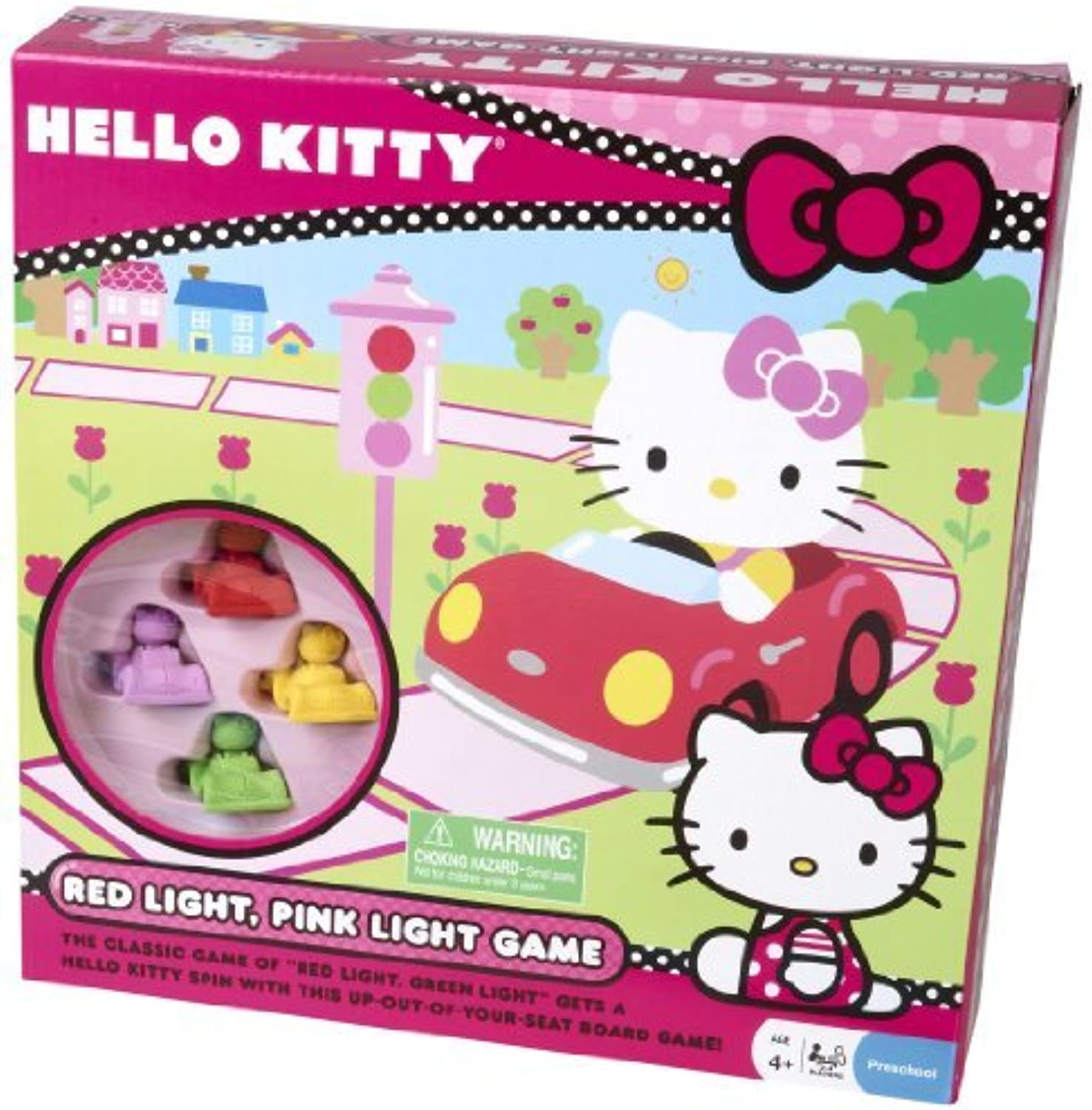 Hello Kitty Red and Pink Light Board Game by Pressman Toy