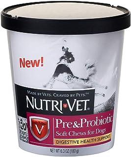 Nutri-Vet Pre and Probiotic Soft Chews for Dogs | Digestive Health Support Dog Probiotics | Tasty Alternative to Dog Probi...