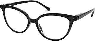 TBOC Gafas de Lectura Presbicia Vista Cansada - Graduadas +2.50 Dioptrías Montura de Pasta [Negra] de Diseño Moda para Mujer Lentes de Aumento para Leer Ver de Cerca con Bisagra Muelle
