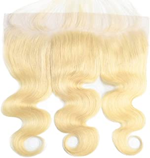 Suttie 613 Platinum Blonde Body Wave Human hair Pre Plucked 13x4 Frontal Lace real Hair Frontal with Baby Hair 6JFL12
