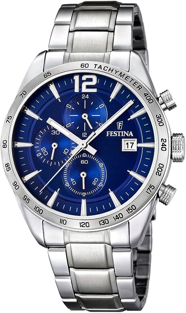 Festina orologio cronografo uomo in acciaio inossidabile F16759/3