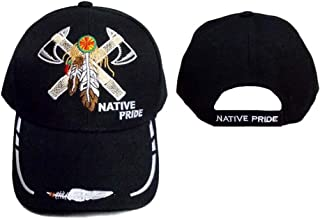 2 Axes & Ceather Native Pride Embroidered Baseball Caps (CapNp556 Z)