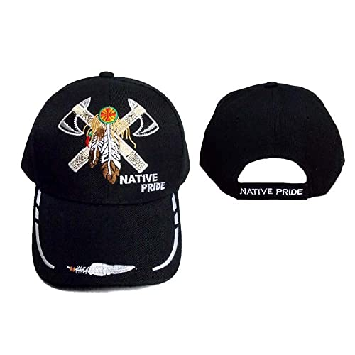 2 Axes   Ceather Native Pride Embroidered Baseball Caps (CapNp556 ... 36740b2b05ce