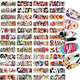 24 Sheets Nail Art Stickers Water Transfer Nail Decals Romantic Valentine Full Nail Wraps Women Girls Fingers Toes Nail Tattoo Decoration Sexy Girls Red Lips Cool girl Pop Movie Stars Pattern Design
