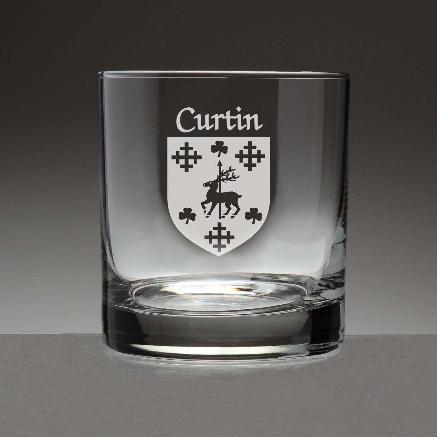 Curtin Irish Coat of Arms Columbus Mall Tumbler Product 4 - Glasses Sand Etche Set