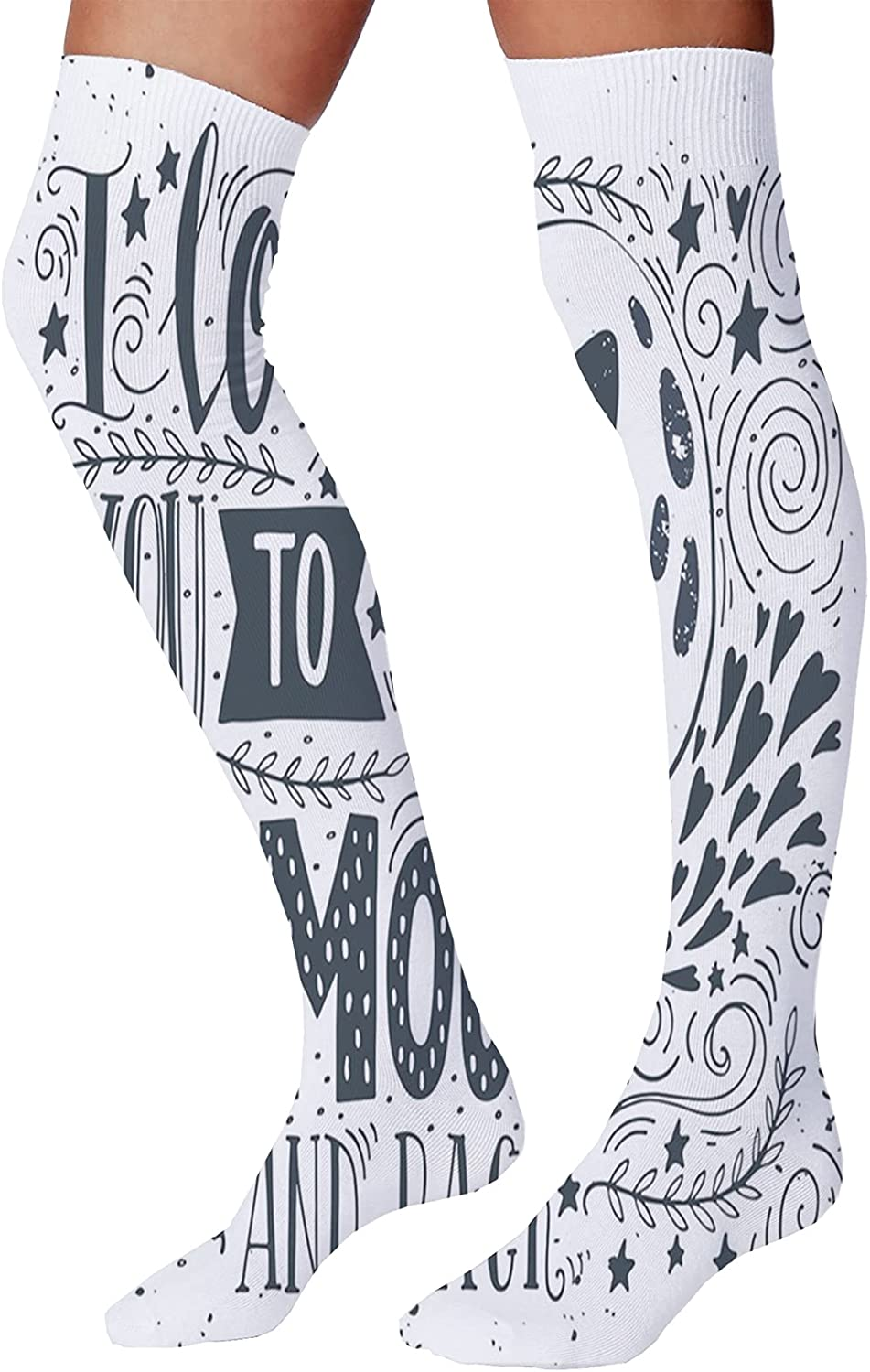 Women's Max 44% New arrival OFF Socks 23.6 Inch Celebratory with Groom Bride Silhouettes