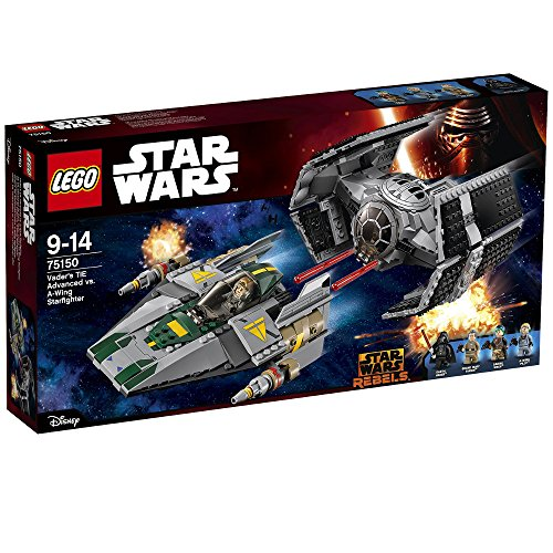 LEGO Star Wars 75150 - Set Costruzioni Vader's Tie Advanced Vs A-Wing Starfighter