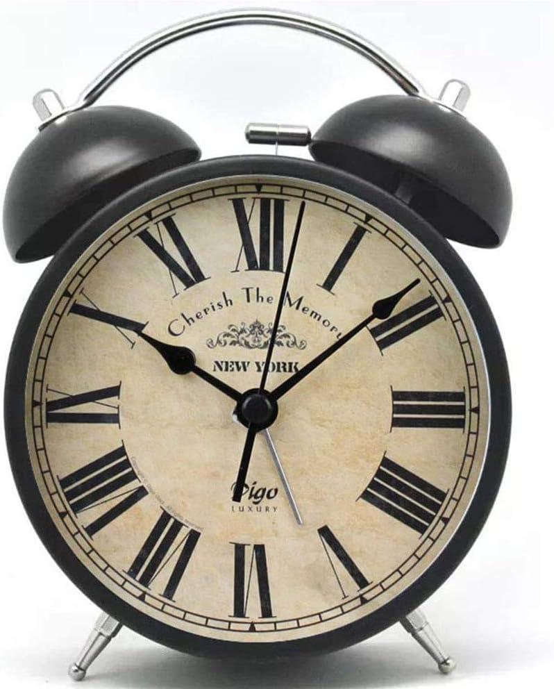 Vintage Kids Free shipping on posting reviews 4 years warranty Alarm Clock Cookadvan Retro Classic Metal Twin Bel