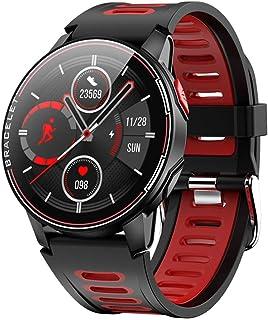 CZX Reloj Inteligente L6, Smartwatch Pulsómetro Rastreador De Ejercicios para Android iOS, IP68 A Prueba De Agua Deportes Hombres Y Mujeres Bluetooth,A