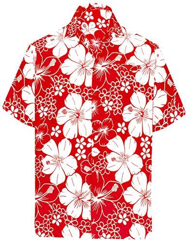 LA LEELA heren strandhemd Hawaiihemd Beach Eiland hert party voorzak Button Down kraag 90's surf Aloha vrije tijd hemden XS - 7XL Likre A_116