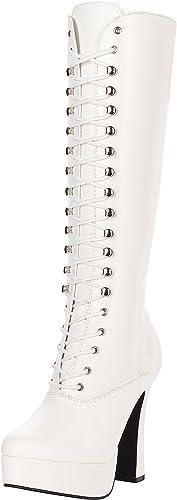 Pleaser ELECTRA-2020 Wht Faux Leather UK 6 (EU 39)
