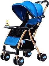 IGLZ Sillas de Paseo cómodo Alta Paisaje Incorporado Amortiguador Segura Cuatro Estaciones Universal Carro de bebé Ligero Plegable fácil de Llevar el Cochecito de bebé apropiado for los niños de 0-3