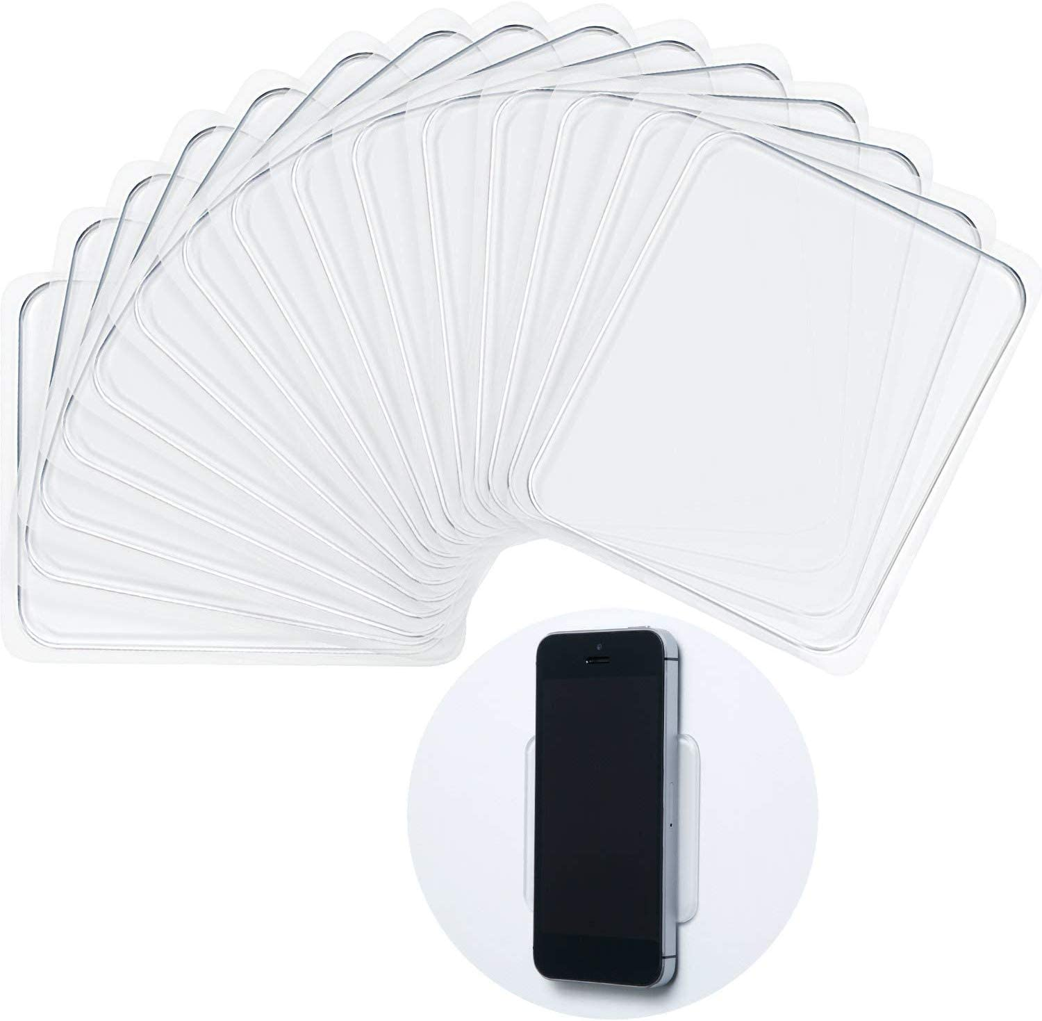 Hslife 20pcs Sticky Gel Pads Silicone Sticky Pads for Car, Home, Office, Cell Phone and Accessories (Transparent)