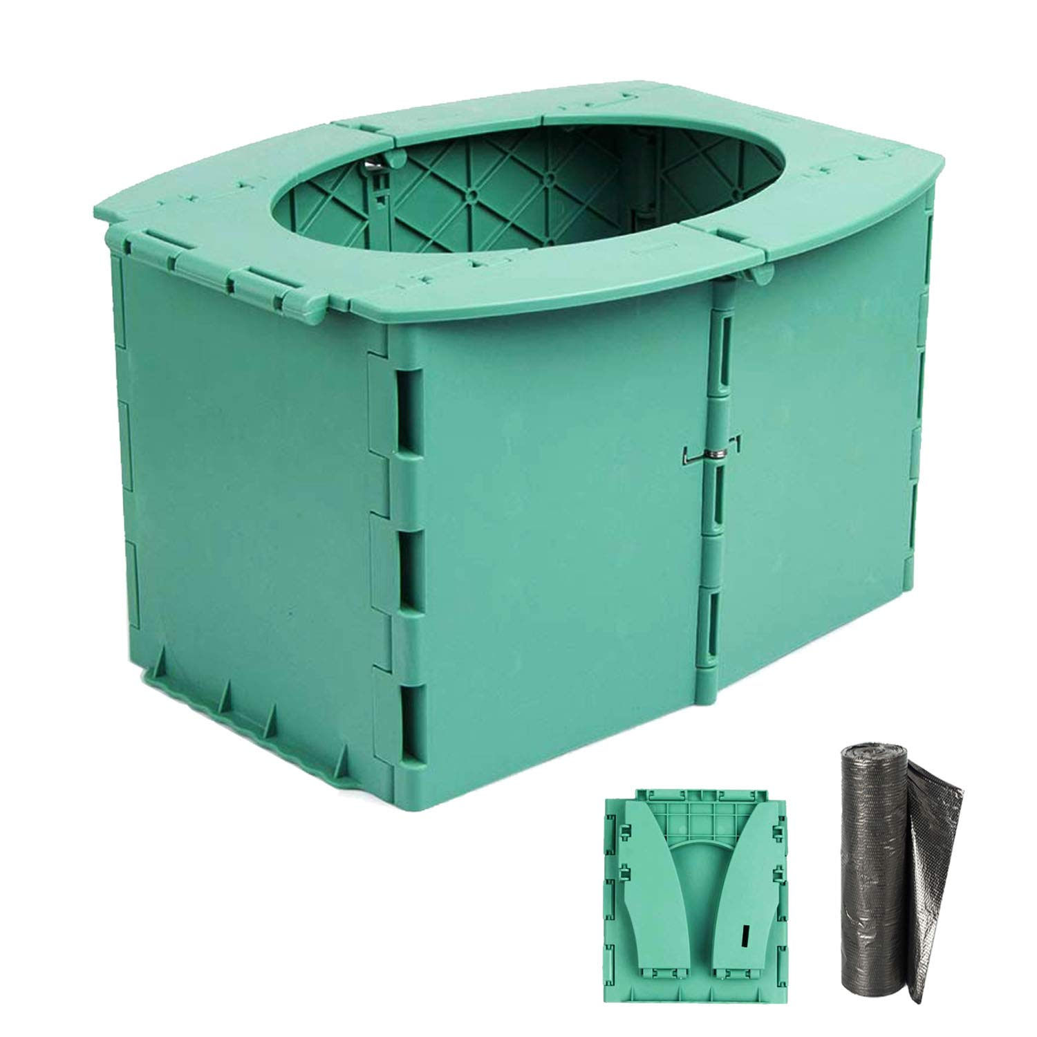 ymmsuuie Travel Potty for Kids, Reusable Portable Folding Potty for Toddler, Travel Foldable Toilet Seat for Car Travel Outdoor Camping, Toddler Potty Seat for Baby Potty Training (Green)
