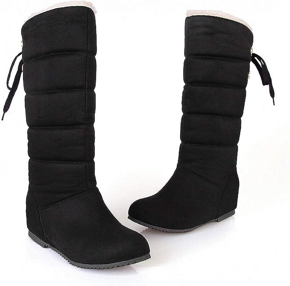 Dear Time Buckle Straps Women Snow Ankle Boots Platform Zipper Winter Booties by