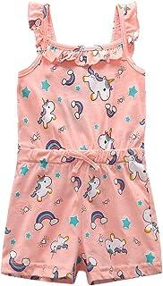 8c4c954f3206 Bleubell Toddlor Girls Denim Romper Sleeveless Summer Playsuit 18M-5Y