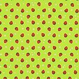 Fabulous Fabrics Halbpanama apfelgrün, Kindermotiv,